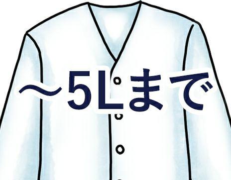 大きいサイズ5Lの調理服・調理白衣