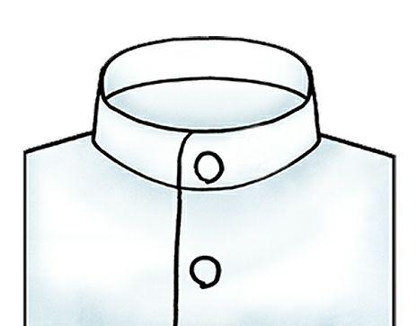スタンドカラーシャツ