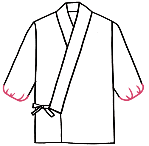 袖・裾にゴム