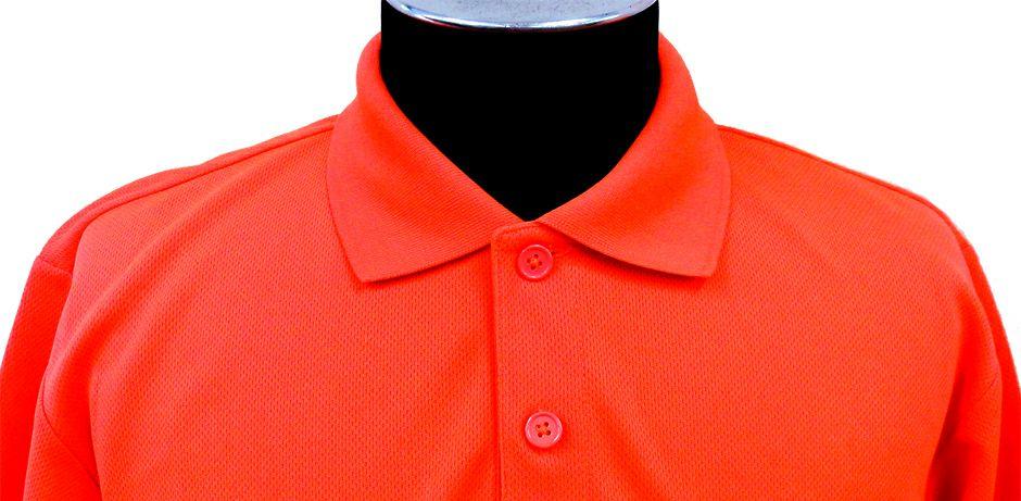 蛍光オレンジ:襟元アップ画像(※実際のカラーは明るい蛍光色になります。)