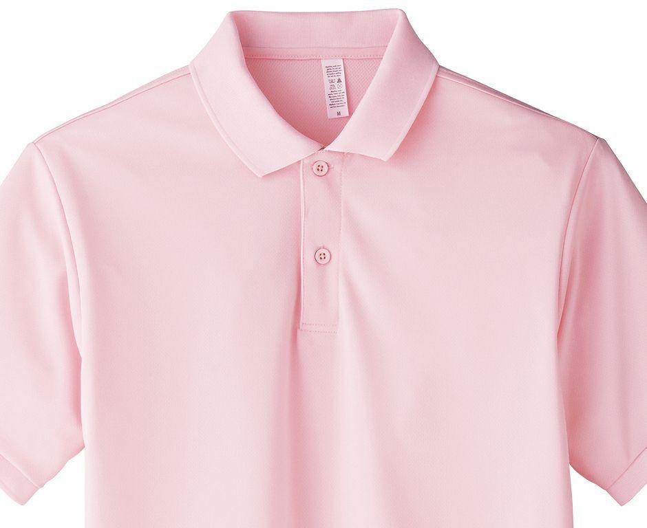 ライトピンクの襟部分アップ画像