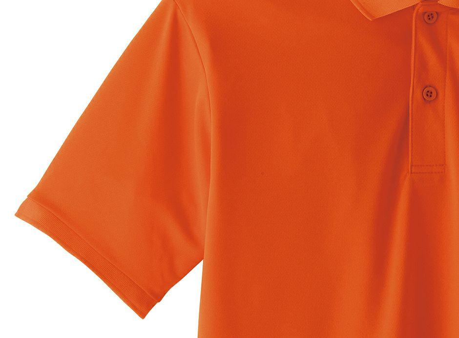 オレンジの袖口リブのアップ画像