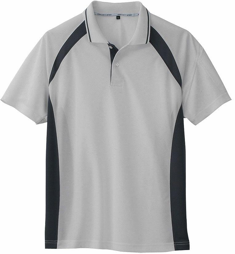 シルバー(✕チャコール)#3/臭くならない消臭の吸汗速乾ドライ半袖ポロシャツ