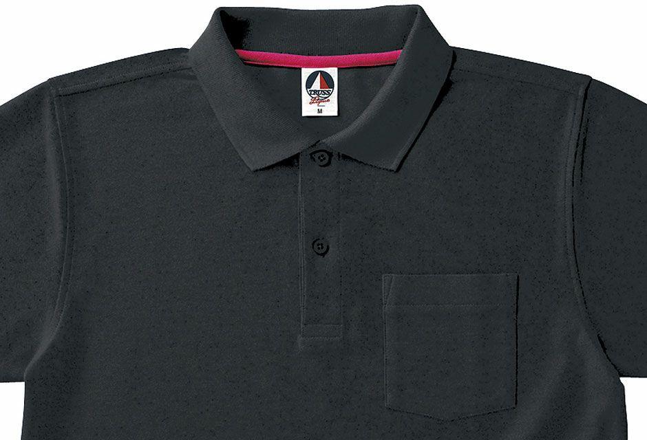 ブラックの襟部分アップ画像