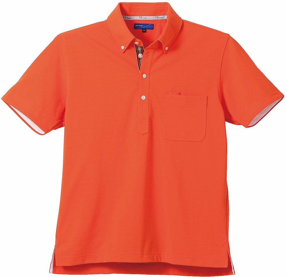 オレンジ♯28/臭くならない消臭テープ付きポロシャツ