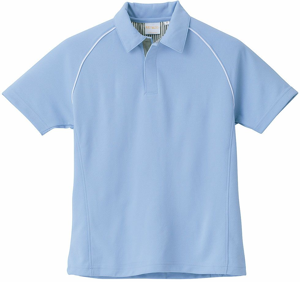 サックス♯19/吸汗速乾ポリエステル100%ポロシャツ