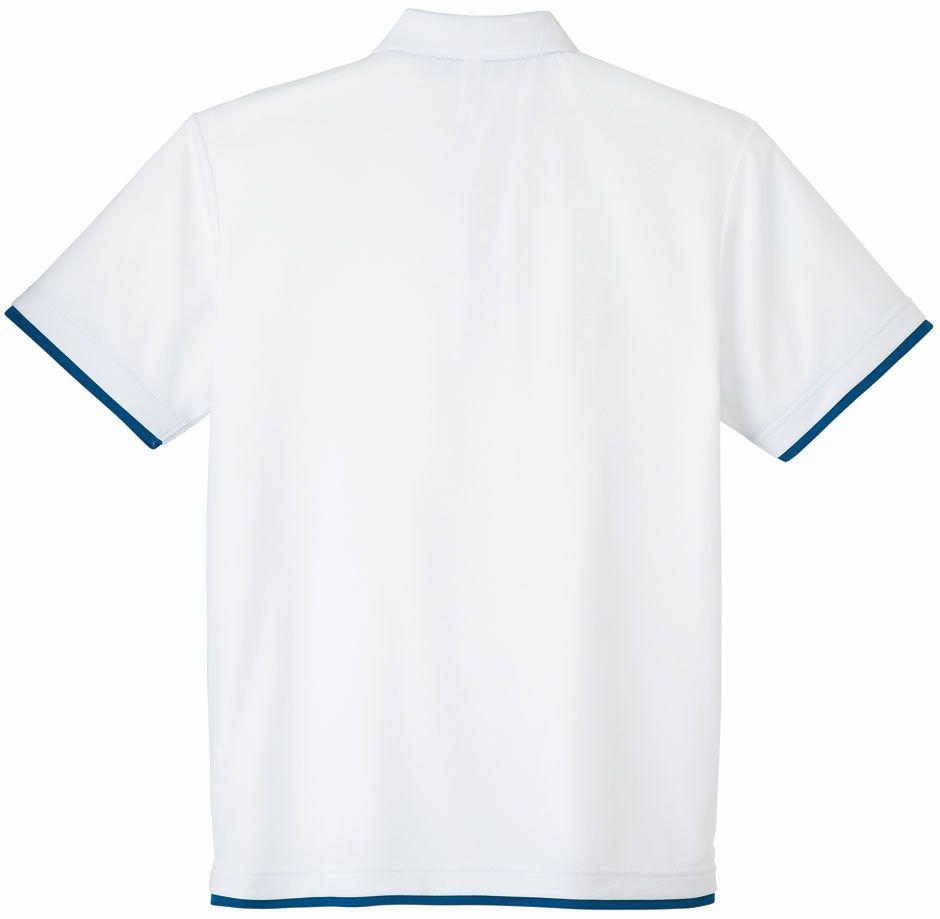 ホワイト×ロイヤルブルーの背中画像