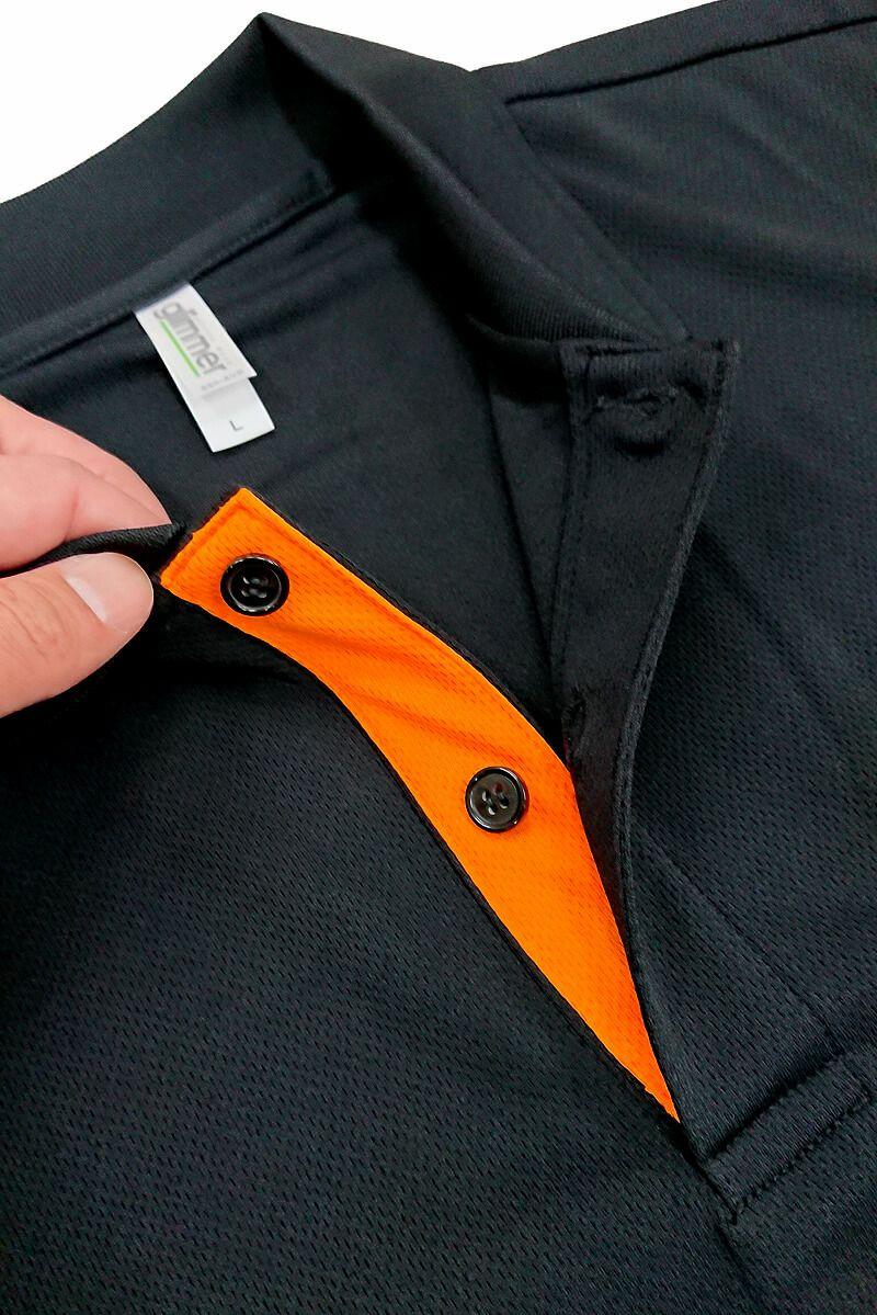 胸元のボタン部分・前立て部分のカラー変更が可能です。
