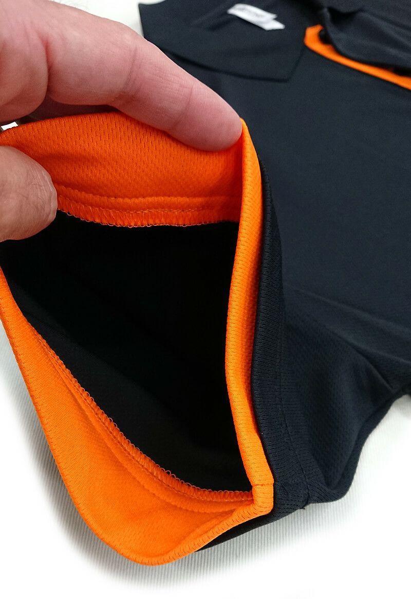こちらは袖口周りの色も変更いたしました。<br>こちらは内側から縫製させていただいております。