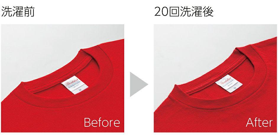 何度洗濯しても、伸びにくく色落ちも少ない、丈夫さと圧倒的な優れた品質です。