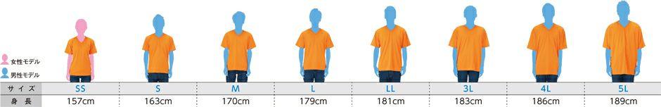 身長の対応表