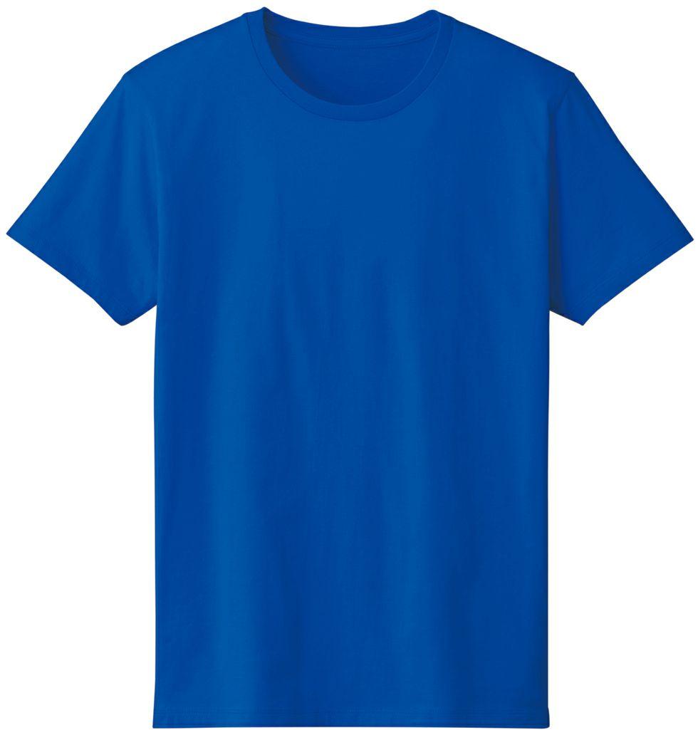 ロイヤルブルー#032/薄手で丈夫な生地で型くずれしにくい半袖Tシャツ