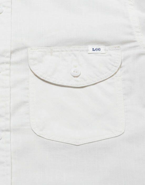 バイアス使いが特徴的な胸ポケット