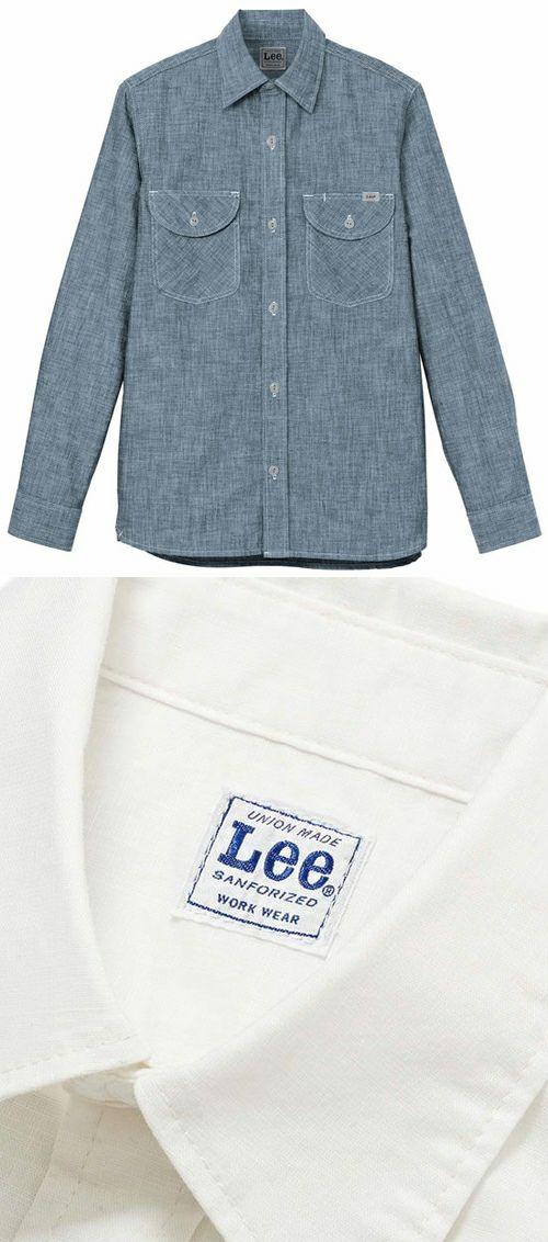 Leeブランドのメンズ長袖ワイシャツ