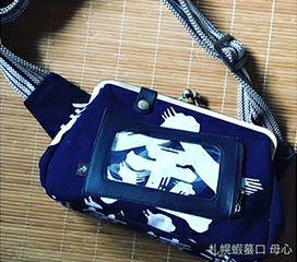 札幌蝦蟇口 母心様が、前掛けの紐でこんな素敵な商品を作成しておられます♪<br>このようにショルダーバッグのベルトひもとして採用いただく事が多いです。