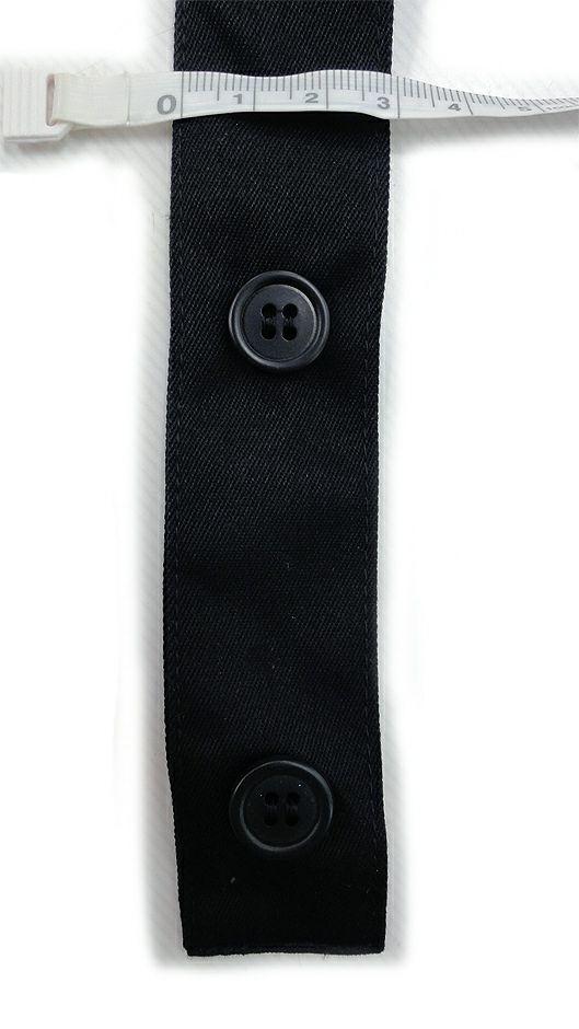 肩ひもの長さは2段階に調節できます。(肩ひもの幅や約3cm)