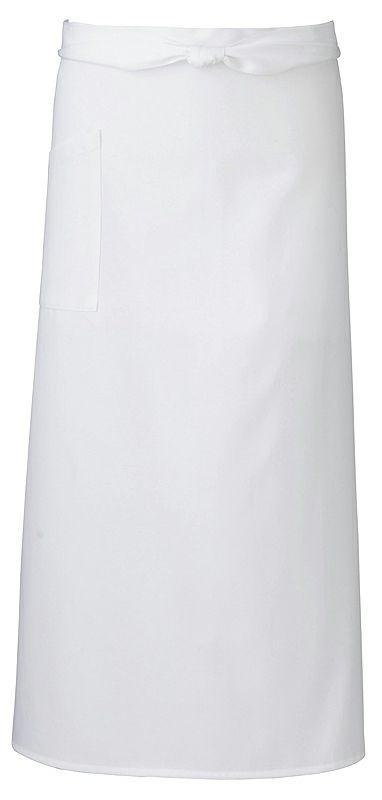 飲食店用のロングエプロン/ホワイト(白色)#001