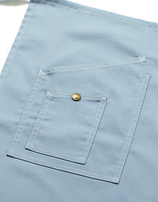 爽やかなブルーのポケット部分アップ画像