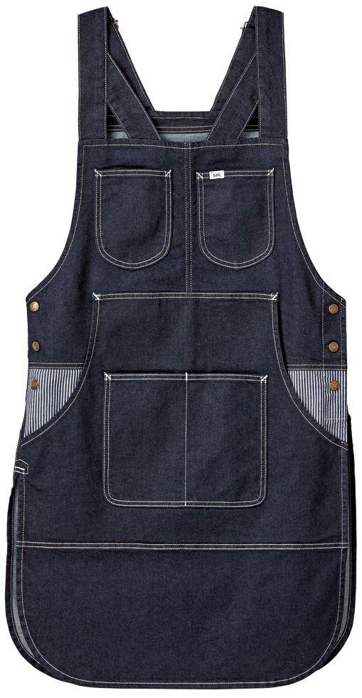 インディゴネイビー#8/ Leeブランドのベスト型胸当てエプロン