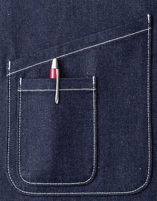 便利で使いやすい、大小2つのポケット付き