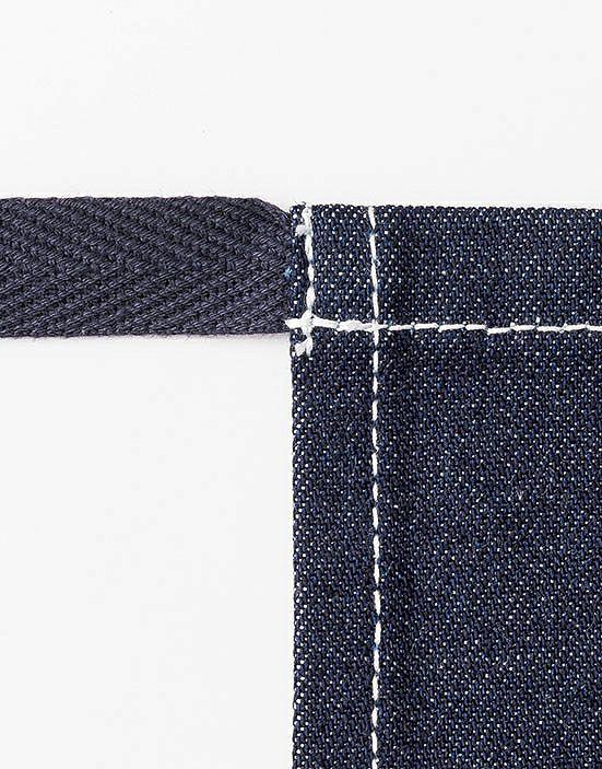 紐部分はおしゃれで巻きやすい杉綾テープの紐
