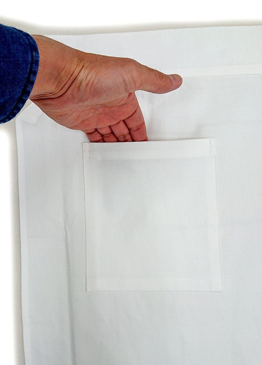 取り付けたポケット部分のお写真です。<br>ポケットのサイズは使いやすいタテ18cm×横16cmで製作。