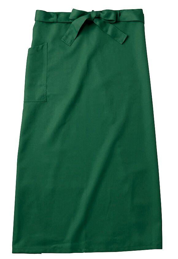 この色はグリーン(緑色)#09/ロング業務用ソムリエエプロン