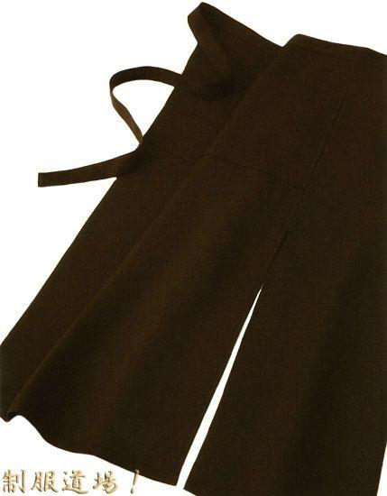 【飲食店】サロンエプロン(ロング) #ブラウン/丈(長さ):85cm