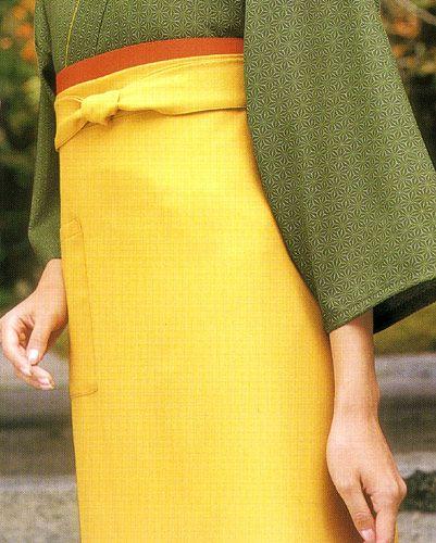 #イエロー/EP8502 前掛けエプロン【長】/ポケットは1個付き/明るい印象にしたい場合は黄色が良いですよ♪