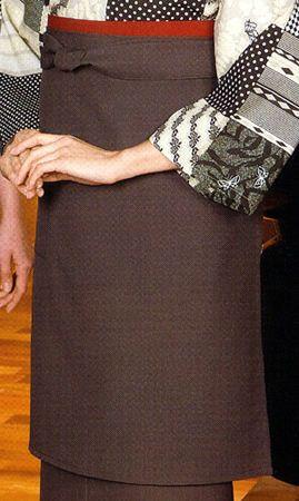 #グレー/EP8517 前掛けエプロン【長】/ポケットは1個付き