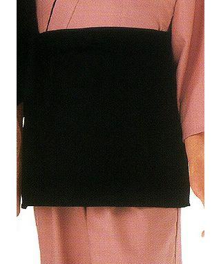#ブラック/EP7901 前掛けエプロン/ポケットは2個並んで付いてます♪
