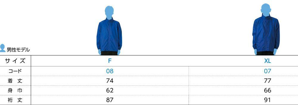 身長別サイズ参考表