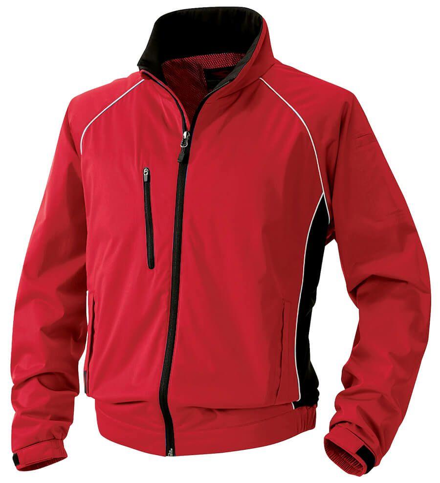 レッド(赤色)#43/かっこいい防風スタッフジャンパー
