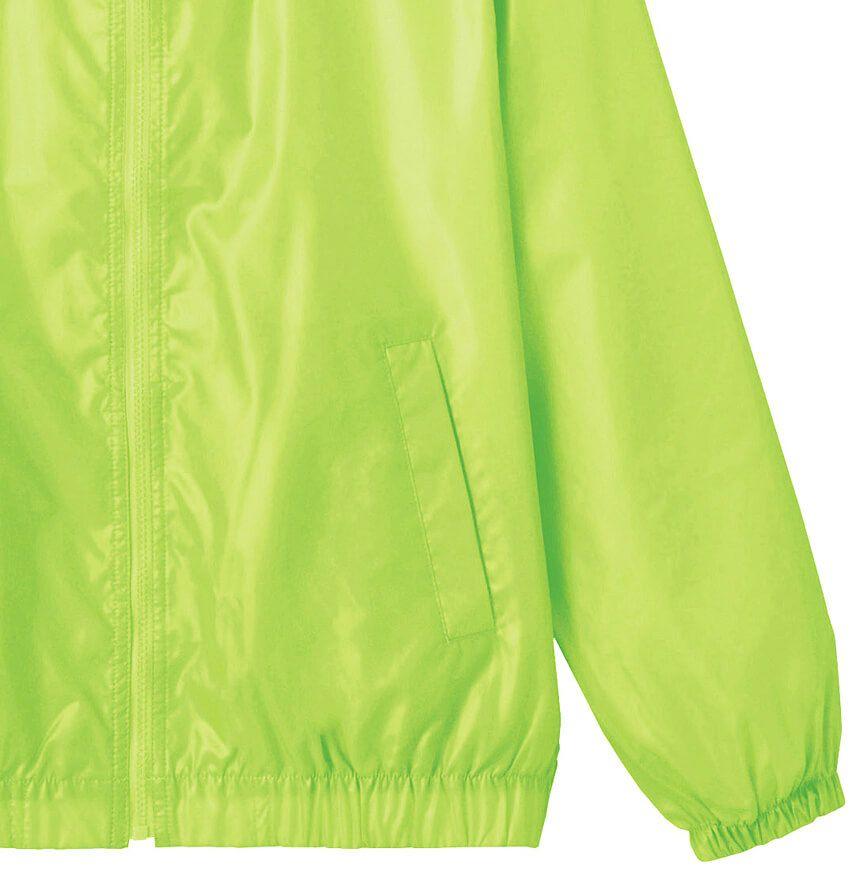 蛍光グリーンの袖先部分