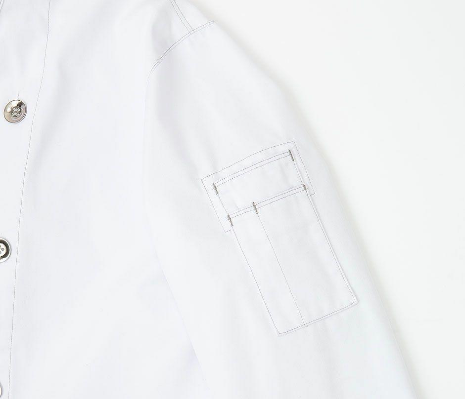 ピンセット、テイスティングスプーン等収納出来るポケット(画像は色違いの白です)