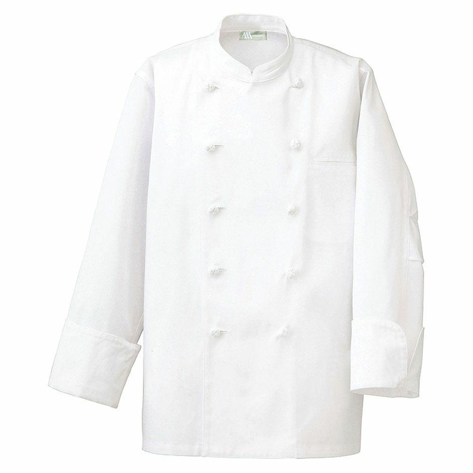 ホワイト(白色) 長袖コックコート