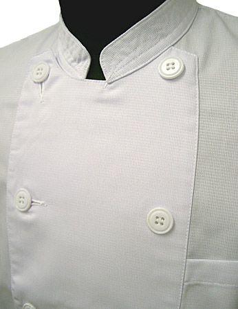 半袖コックコートのえり部分