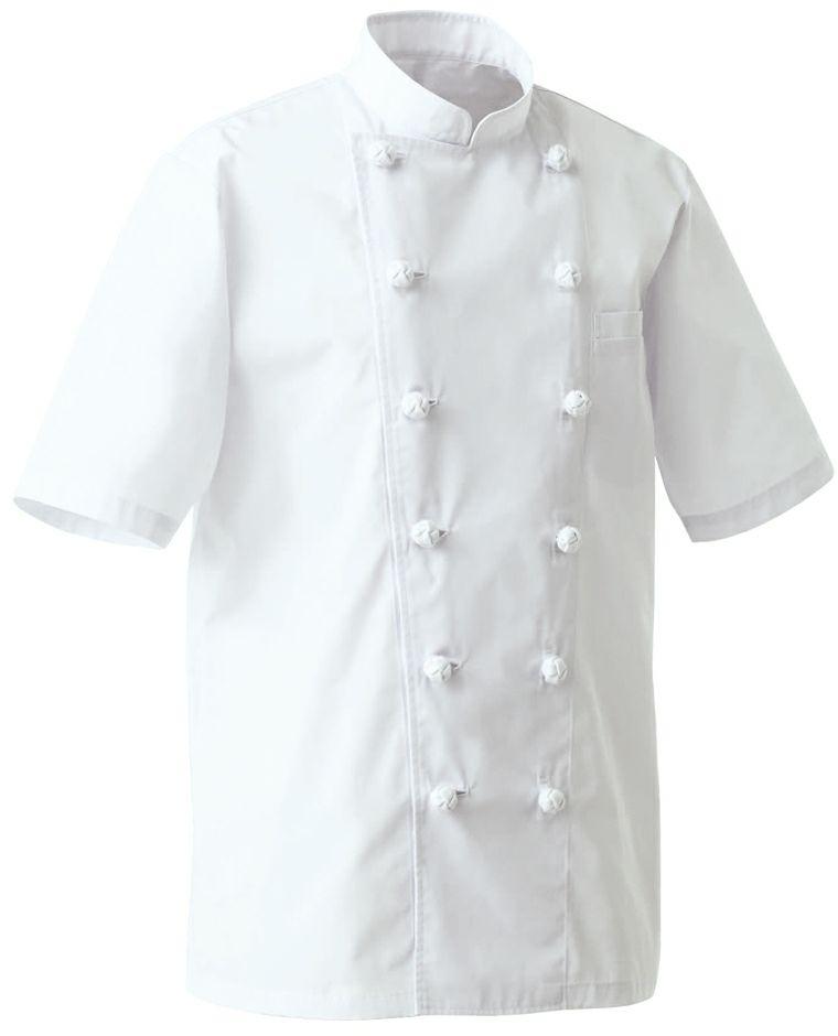 ホワイト#0/薄手で涼しい夏用抗菌防臭半袖コックコート