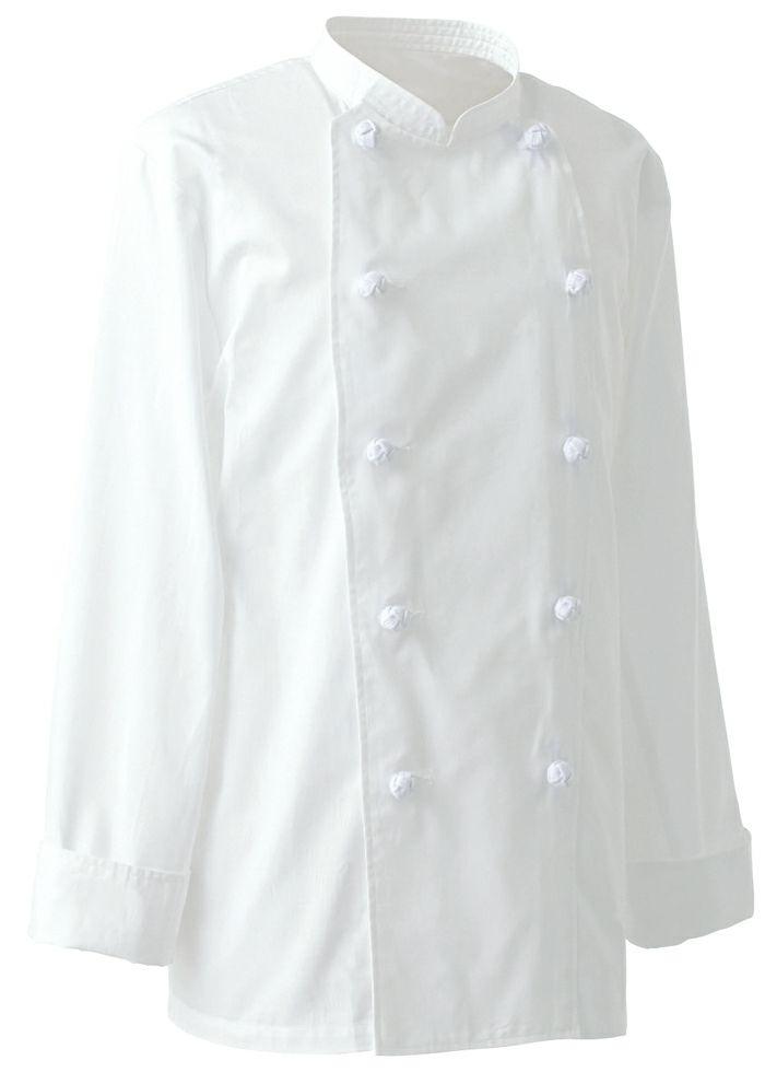 ホワイト#1/薄手で夏用の長袖コックコート