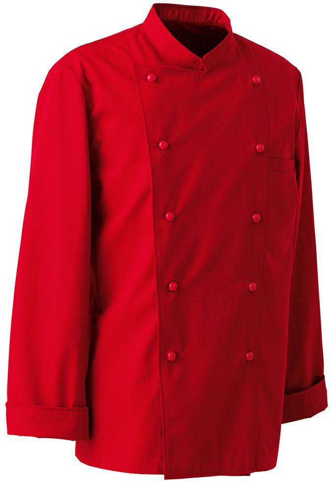 レッド#2/抗菌防臭で臭くなりにくい業務用カラーコックコート