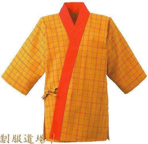黄色×赤色のチェック柄