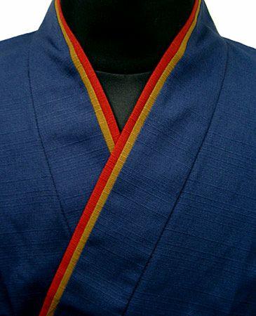 TH11023-01  作務衣シャツ  #紺色