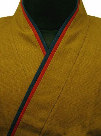 TH11023-07  作務衣シャツ  #茶系