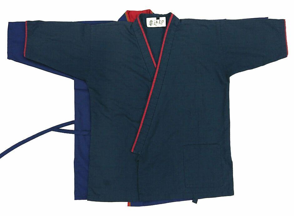 お客様が現在着用している作務衣(さむえ)と同じ形にカスタム加工いたしました。