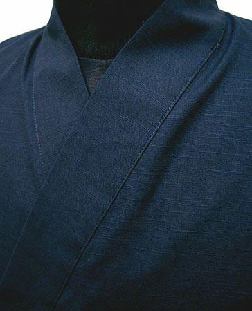 IS11028  作務衣シャツ  #ネイビー