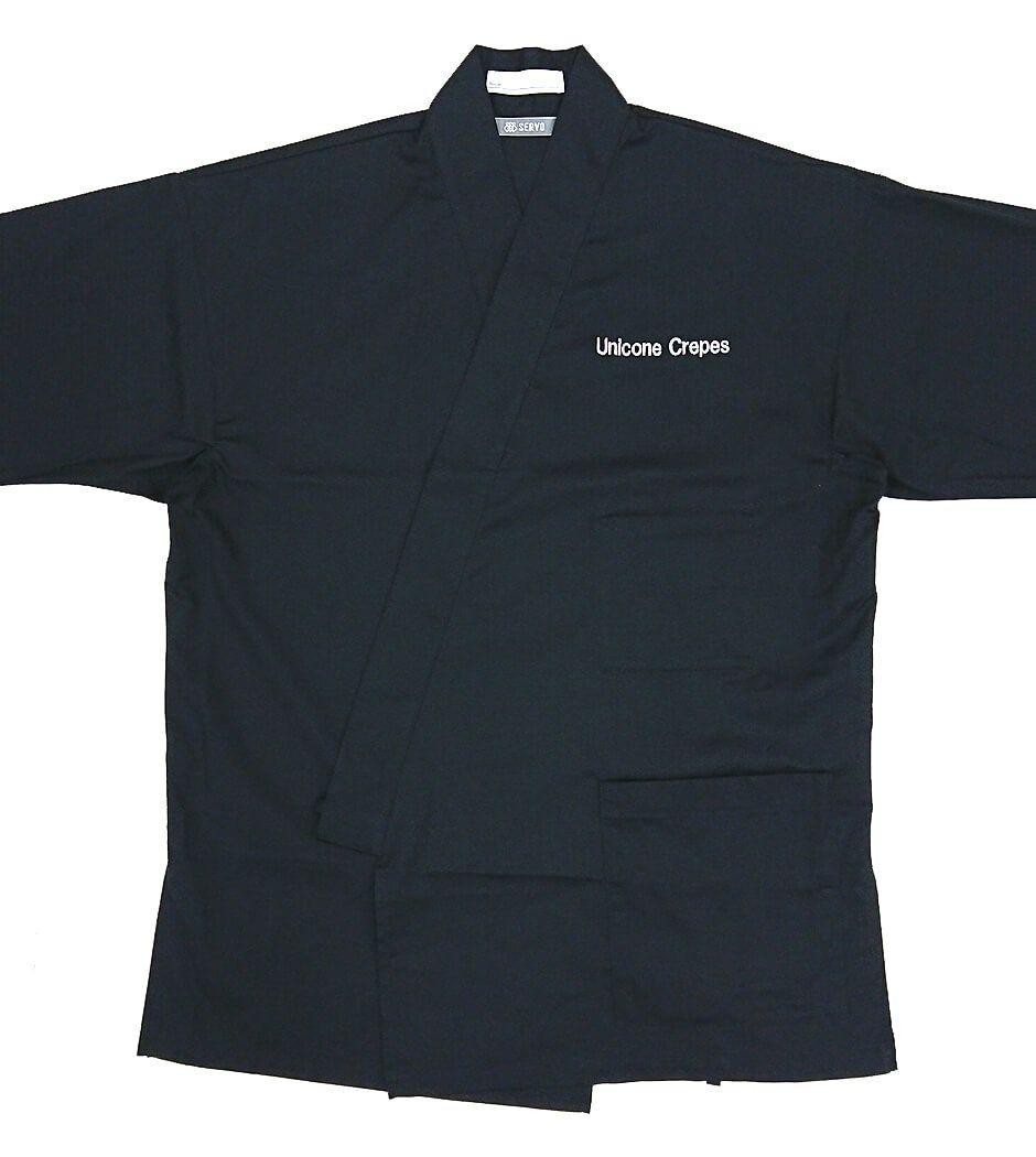 左胸部分にはネーム刺繍で店名を名入れさせていただいております。