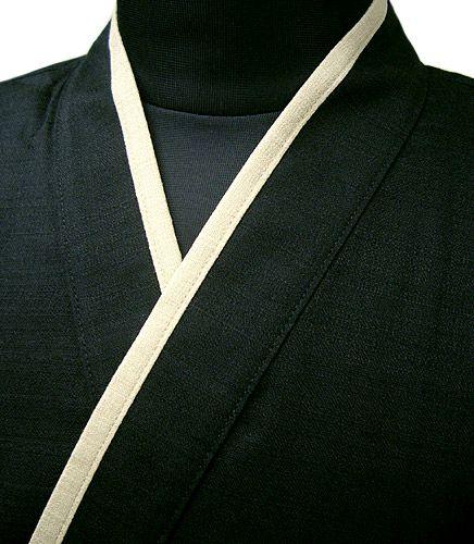 YG11020  作務衣シャツ #ブラック