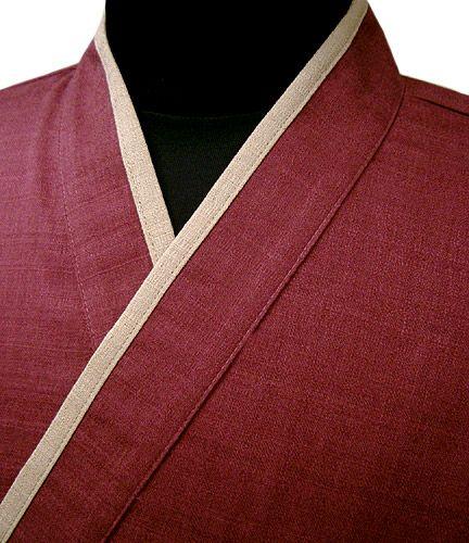 YG11020  作務衣シャツ #ローズ(紫)