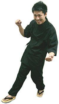 SN11252 作務衣シャツ / SN11257 作務衣【パンツ】/ #ブラック