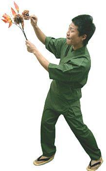 SN11251 作務衣シャツ / SN11256 作務衣【パンツ】/ #グリーン